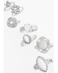 Topshop Stone Rings - Lyst