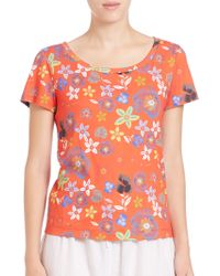 Suno | Floral-print Tee | Lyst