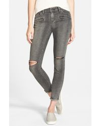 Volcom - Destroyed Cropped Jeans - Lyst