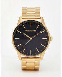 Unknown - Gold Stainless Steel Strap Watch - Lyst