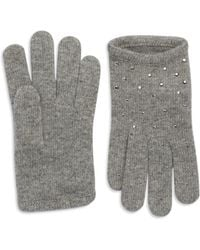 Portolano Gray Studded Gloves - Lyst
