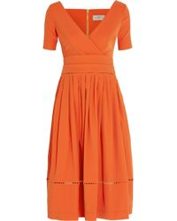 Preen Robin Pointelletrimmed Stretchcrepe Dress - Lyst
