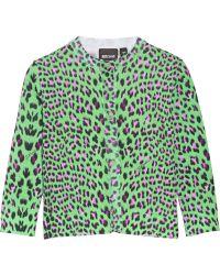 Just Cavalli Leopard-Print Cotton Cardigan - Lyst