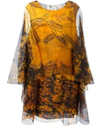 Lanvin Sheer Dress multicolor - Lyst