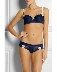 Elle Macpherson - Exotic Plume Lace Underwired Bra - Lyst
