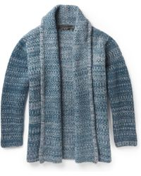 The Elder Statesman Striped Cashmere Cardigan - Lyst