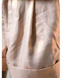 Raoul - Cuffed Metallic Shorts - Lyst