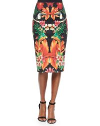 Ted Baker Racind Tropical Toucan Pencil Skirt - Lyst