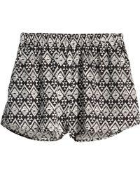 H&M Patterned Shorts black - Lyst