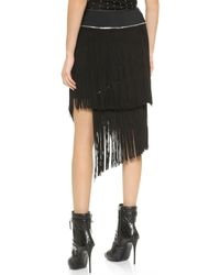 Jay Ahr Fringe Skirt - Black - Lyst