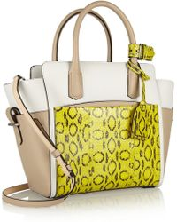 Reed Krakoff Atlantique Mini Leather and Viper Tote - Lyst