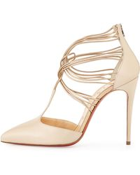 Christian Louboutin Confusa Strappy Point-Toe Red Sole Pump - Lyst