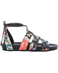 Urge - Loulou Floral Cage Sandals - Lyst