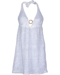 Ralph Lauren White Short Dress - Lyst