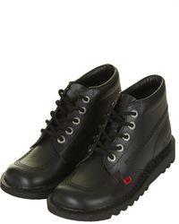 Topshop Kick Hi Boots by Kickers - Lyst