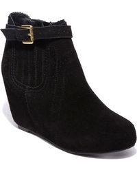 Dv By Dolce Vita Parkers Suede Wedge Booties - Lyst