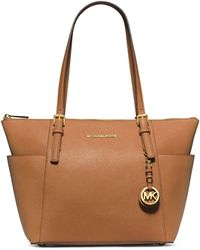 MICHAEL Michael Kors Jet Set Top-Zip Saffiano Tote Bag - Lyst