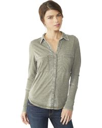 Alternative Apparel Everyday Burnout Button Up Shirt - Lyst