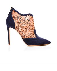 Nicholas Kirkwood Lace And Suede Ankle Boots - Lyst