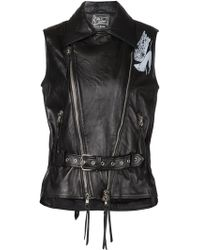 Claire Barrow - Back Print Belted Gilet - Lyst