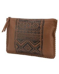 Volcom | Faux Leather Print Clutch | Lyst