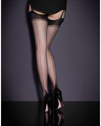 Agent Provocateur Seam & Heel Stockings - Lyst
