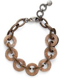 Pono - Resin Choker Necklace - Bronze - Lyst