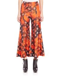 Acne | Palm-print Flared Pants | Lyst