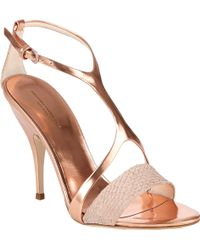 Narciso Rodriguez Harness Tstrap Sandals - Lyst