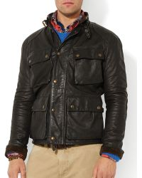 Ralph Lauren Polo Southbury Leather Bike Jacket - Lyst