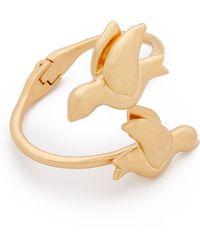 Tory Burch Dove Cuff Bracelet - Worn Gold - Lyst