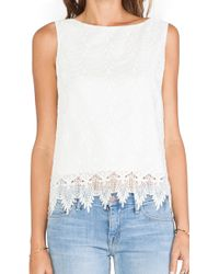 Alice + Olivia Anya Embroidered Tank Top - Lyst