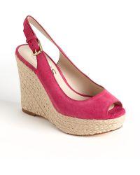 Kors by Michael Kors Keelyn Suede Platform Wedge Sandals