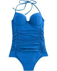 J.Crew Halter Underwire One-Piece Swimsuit - Lyst