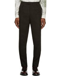 Burberry Prorsum Charcoal Tweed Classic Trousers - Lyst