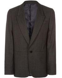 Paul Smith Grey Birdseye Wool Blazer With Contrasting Panel - Lyst