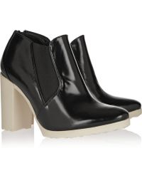 Pierre Hardy Glossed Leather Ankle Boots - Lyst