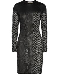 Christopher Kane Snake-print Stretch-jersey Mini Dress - Lyst