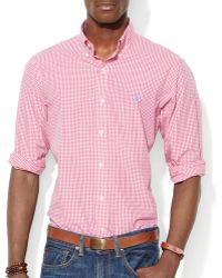 Ralph Lauren Polo Checked Poplin Shirt - Slim Fit - Lyst