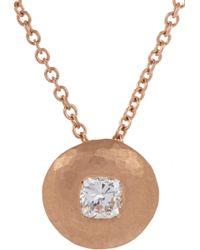 Malcolm Betts - Diamond & Rose Gold Pendant Necklace - Lyst