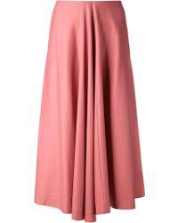 Jil Sander Fine Knit Skirt - Lyst