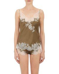 Carine Gilson Silk  Lace Camisole - Lyst