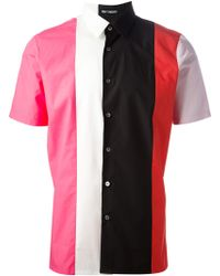 Raf Simons Vertical Colour Block Shirt - Lyst