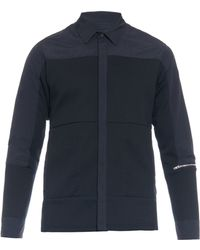Tim Coppens - Poplin And Jersey Shirt - Lyst