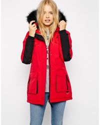 Bellfield Winter Coat With Faux Fur - Lyst
