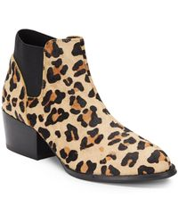 Steve Madden Palace Leopard-print Calf Hair Ankle Boots - Lyst