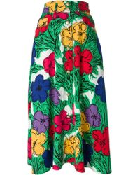 Moschino Flower Print Skirt - Lyst