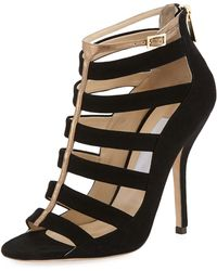 Jimmy Choo Fathom Strappy Cage Bootie - Lyst