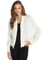 Qi Ivory 14 Gauge Cashmere Knit 'Valentina' Shrug Sweater - Lyst