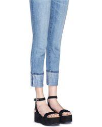 Sam Edelman | 'henley' Suede Platform Sandals | Lyst